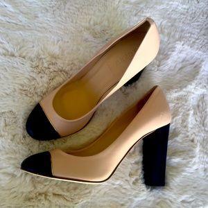 J. Crew Etta cap toe pumps heels Chanel style